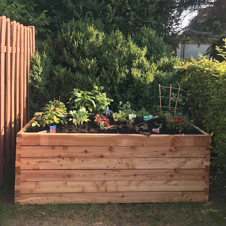 Gartenpirat Hochbeet Larche 198x98x74 Cm Bausatz Aus Holz Mit Folie