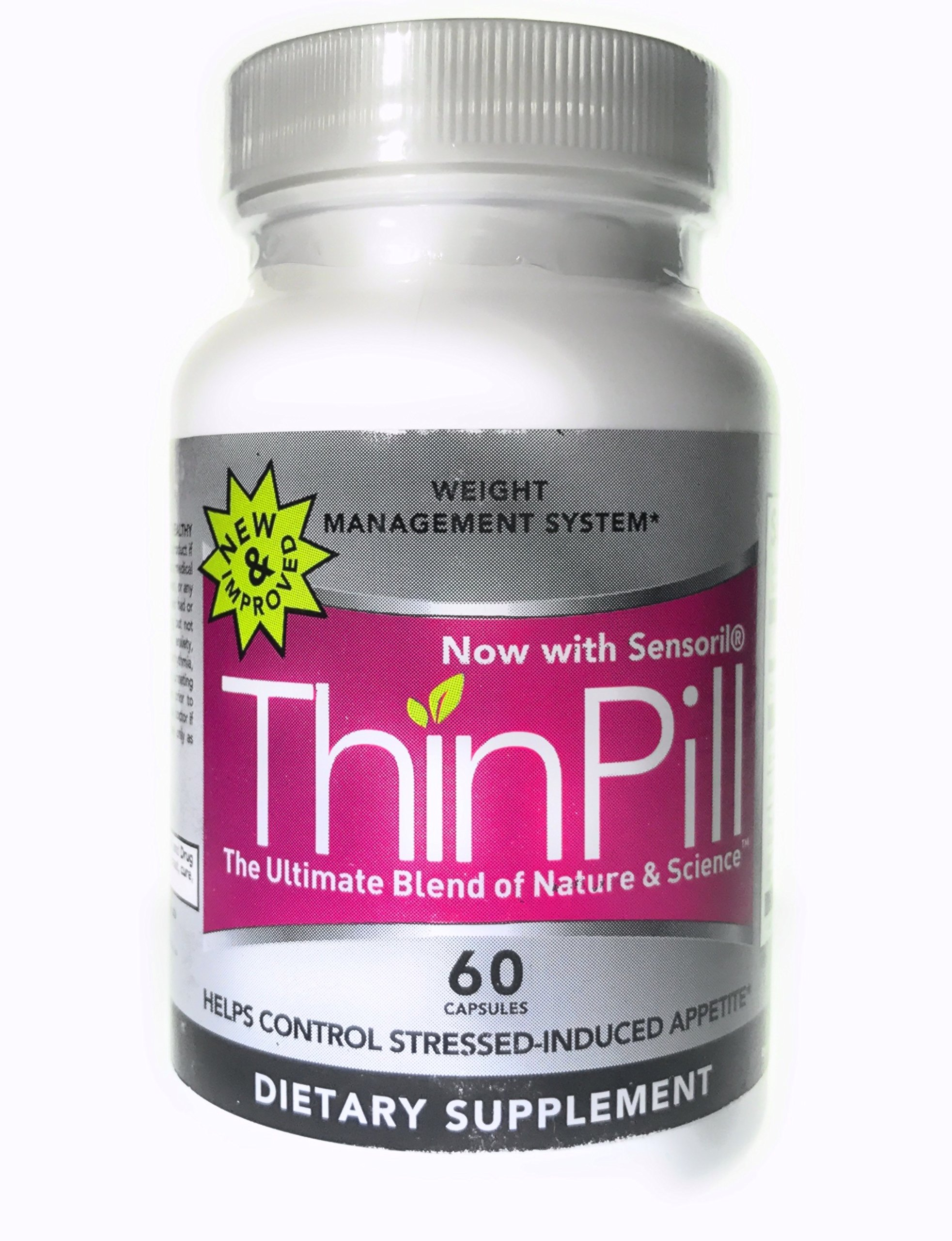 ThinPill - Thrermogenic Weight Loss Supplement - Proprietary Blend of L-Carnitine, L-Tyrosine and Green Tea extract - 60 Caps 30 Day Supply
