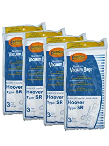 12 Hoover Duros Type SR Vacuum Bags with MicroFiltration Vacuum Cleaners, HO-101010SR, 401010SR, S3590, S3591, S3590HV