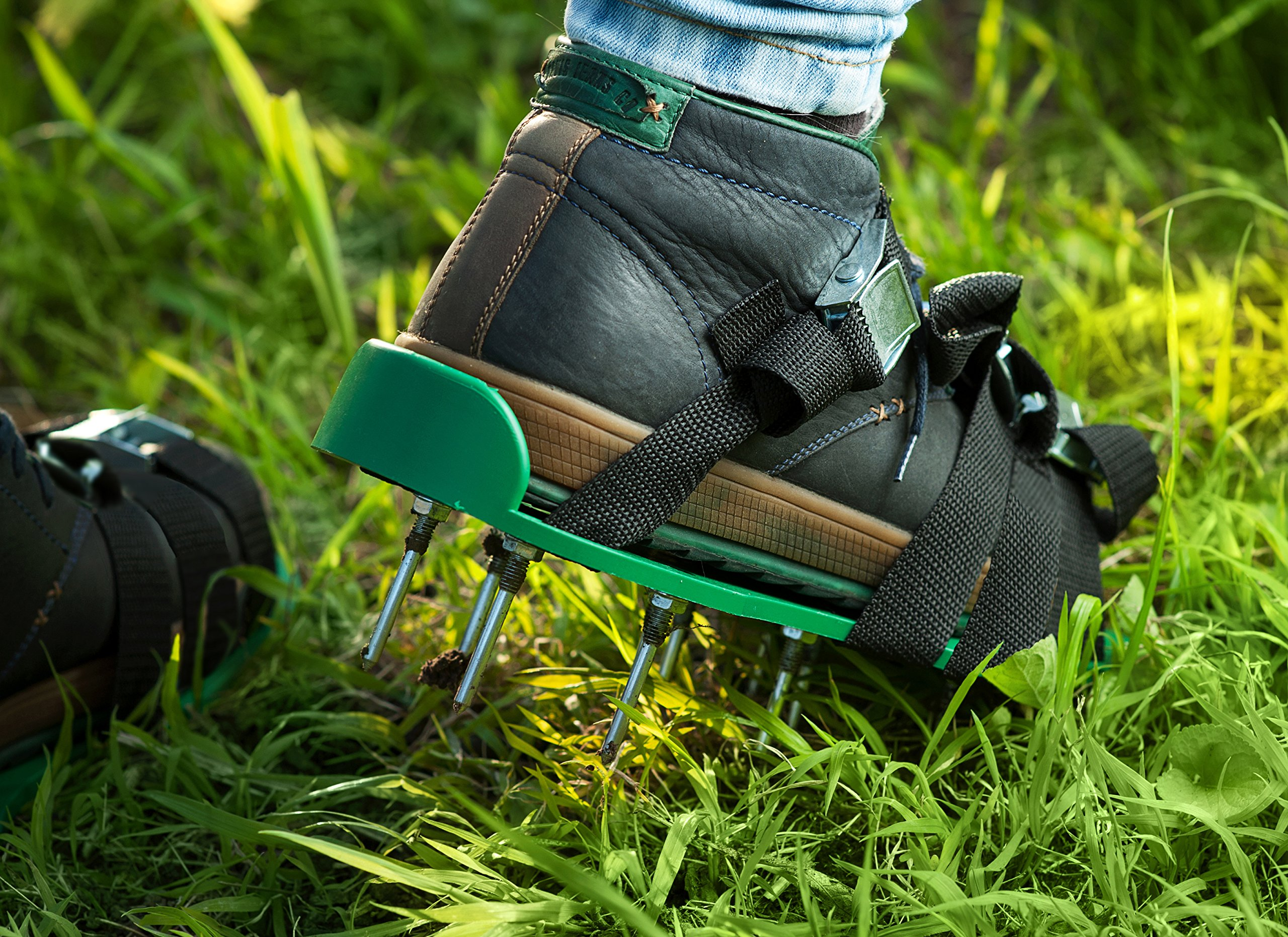 Professional Lawn Aeration Sandals with 4 Adjustable Durable Straps for Effective Treating, Aerate, Fertilize Lawn Soil-Lawn Aerator Shoes with Metal Buckles for Greener and Healthier Grass,Yard Care. by Skilur P (Image #5)