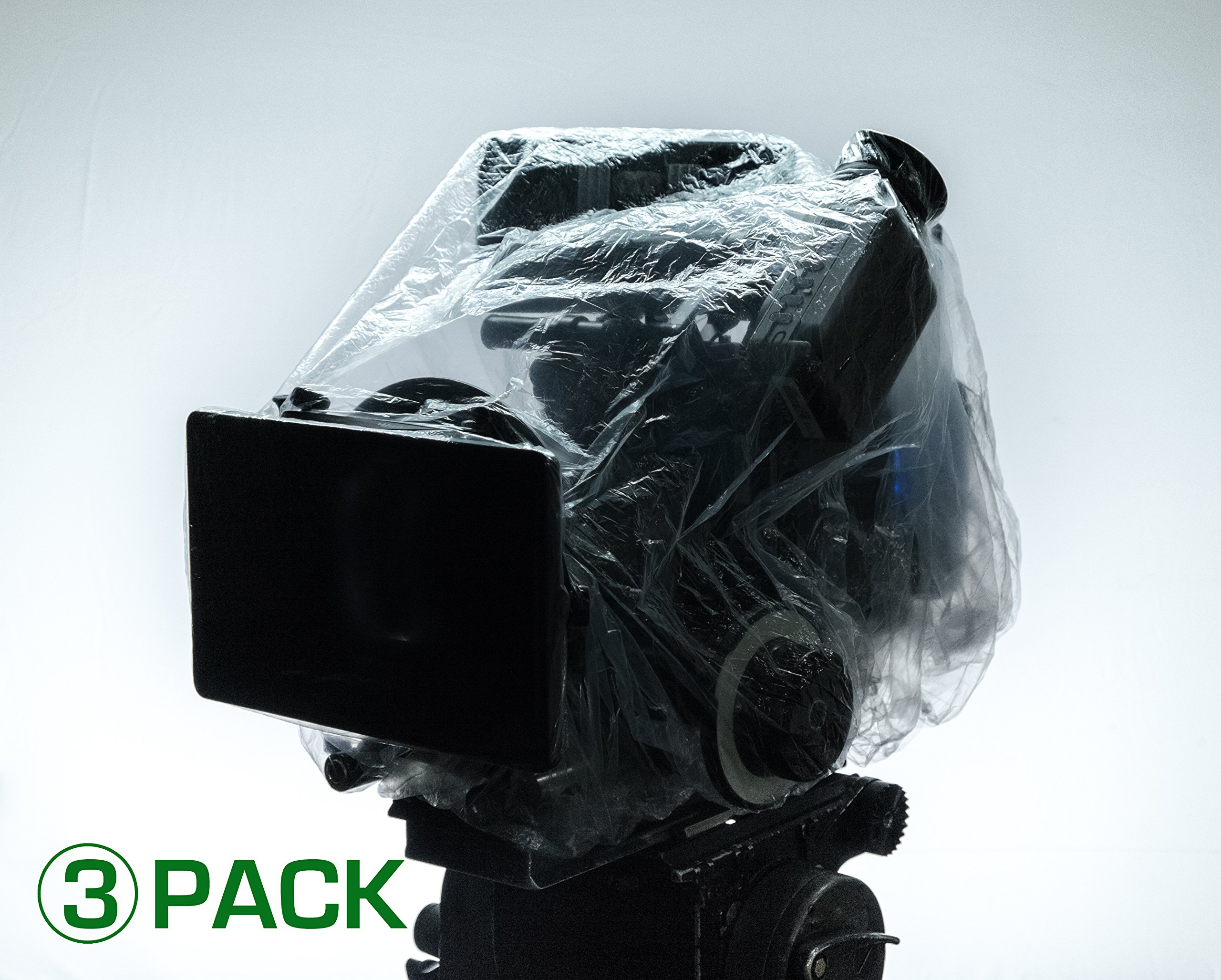 3 PACK CAP IT! COVERS (AKS) CAMERA & ELECTRONICS PROTECTION PERFECT FOR ARRI, RED, SONY, PANASONIC, PANAVISION, BLACK MAGIC, STEADICAM, GIMBLE RIGS, KIT BAGS MONITORS AND MORE