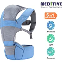 MEDITIVE 2 in 1: Baby Carrier + Hip Seat, Ergonomically Designed for All Age Groups Upto 3 Years