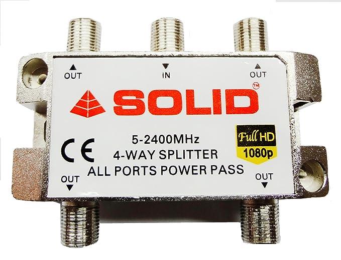 Solid 4 Way Power Pass Splitter