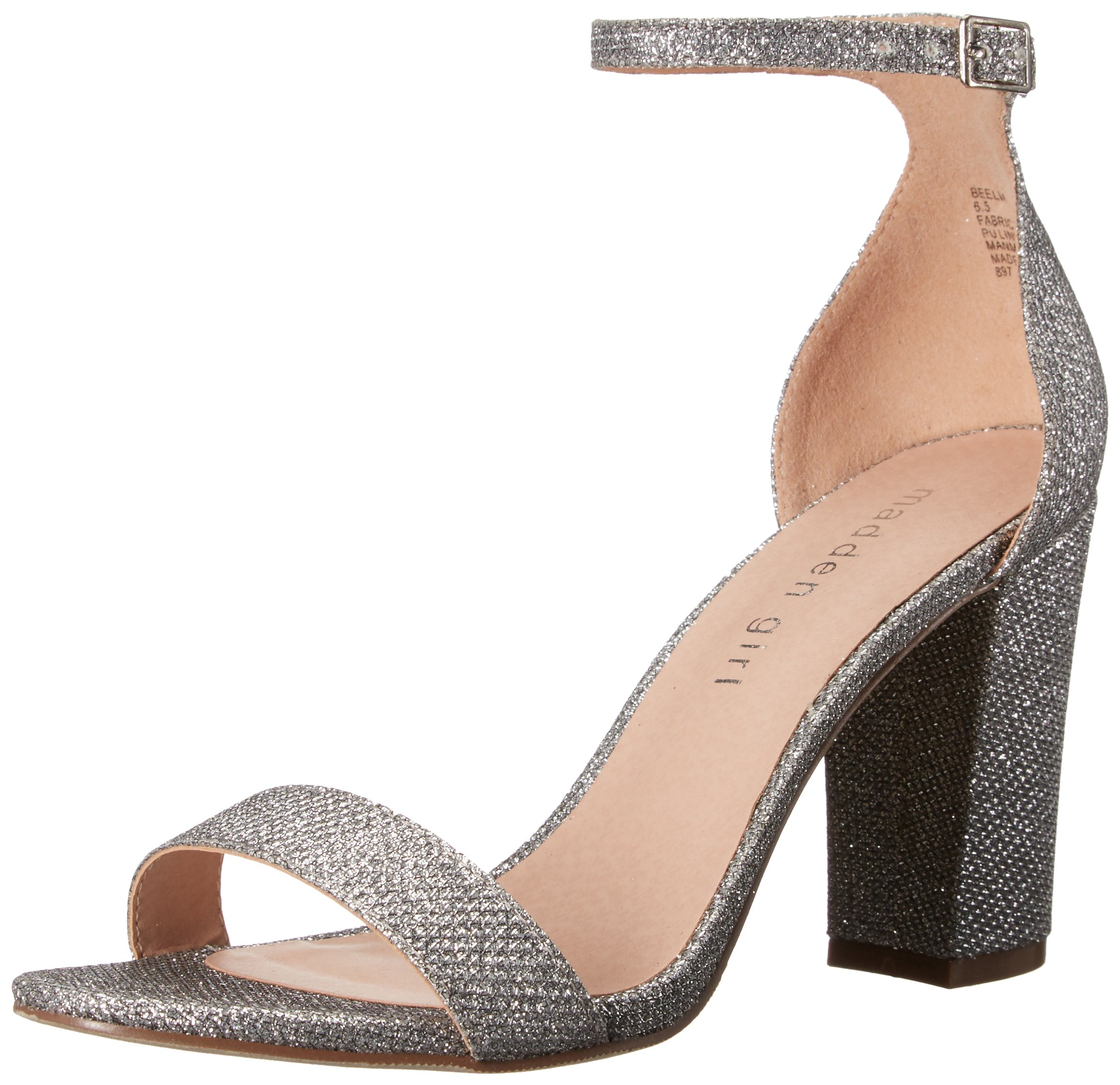 Madden Girl Women's Beella Dress Sandal, Silver, 7 M US