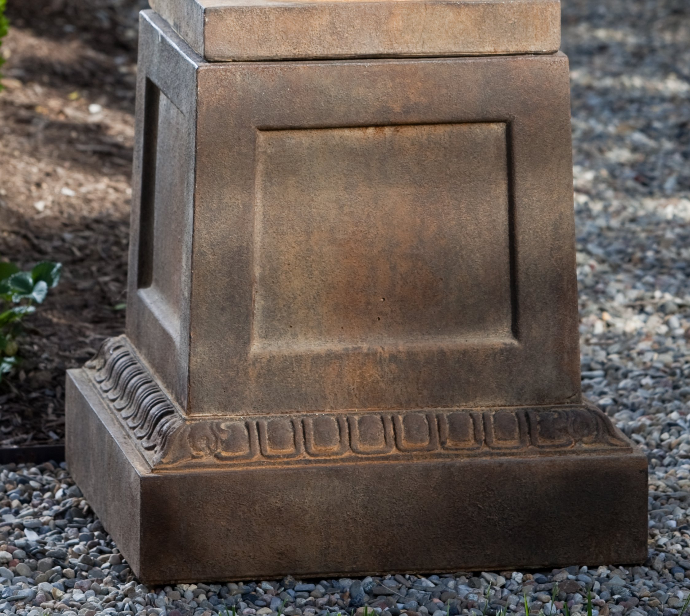 Campania International PD-181-GS Williamsburg Jefferson Pedestal, Grey Stone Finish