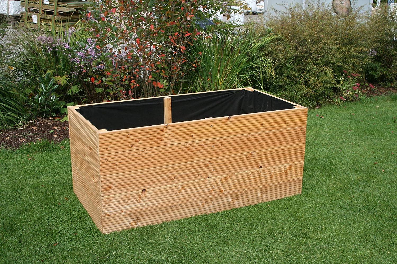 planteadas cama hecha de madera de hierbas maceta alerce flores ...