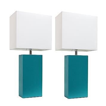 Amazon.com: Lámparas de mesa con pantallas de tela ...