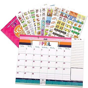 2018-2019 - Calendario mensual de mesa y pegatinas para eventos ...