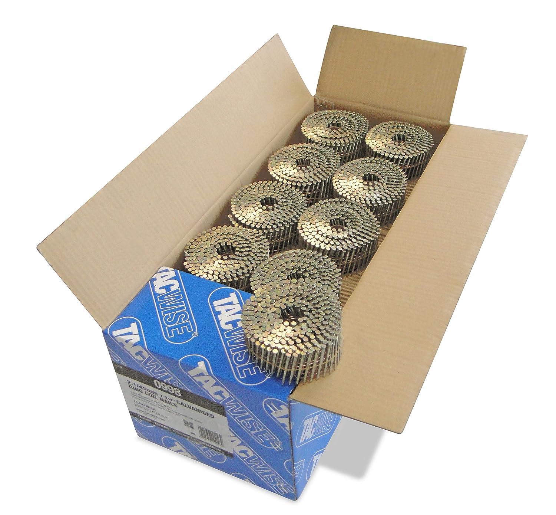 Tacwise 0994 Bobina plana de clavos anillados de tipo 2.1//35 mm 2.1x35mm Set de 14000 Piezas
