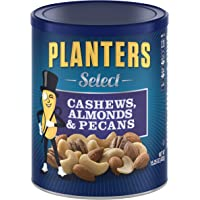 PLANTERS Select Cashews, Almonds & Pecans, 15.25 oz Resealable Container - Salted Nuts - Kosher