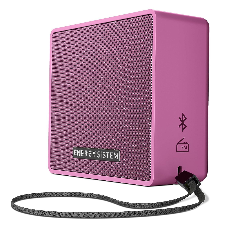 Energy Sistem Music Box 1+ - Altavoz Portátil, Bluetooth v 4.1, 5 W, microSD MP3, Radio FM, Audio-In, Color Rosa (Grape)