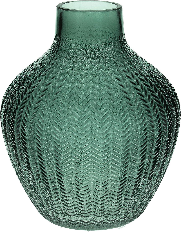 Color Verde Jarr/ón de Cristal con Borla Gisela Graham