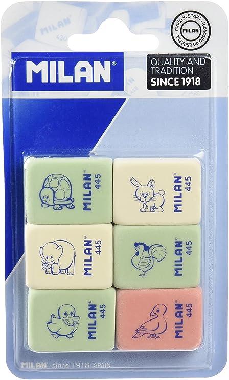 Milan BMM10049 - Pack de 6 gomas de borrar: Amazon.es: Hogar