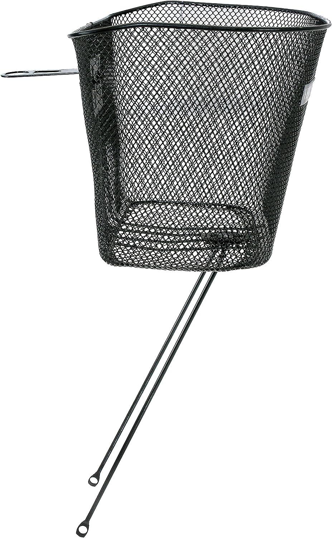M-Wave Bike Basket Silver Luggage Carrier Basket Satchel Basket 40x30x18cm
