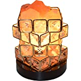 HimalAire Natural Pink Himalayan Salt Lamp - Authentic Organic Crystal Rocks, Modern Dimmable Switch With Wood Base, Air Purifying For Office, Bedroom, Nightlight - Extra Bulb, UL Approved Cord
