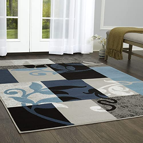 Home Collection by Raghu York Ticking Black Gathered Swag, 72 by 63