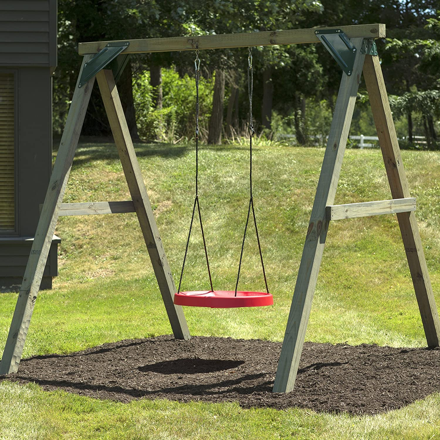 super spinner swing fun safe solid comfortable seat free 10 ft