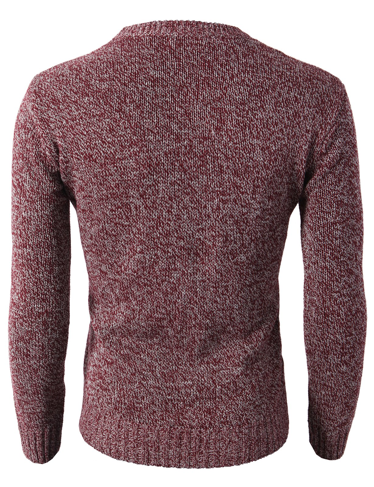H2H Mens Slim Fit Basic Ribbed Thermal Turtleneck Pullover Sweaters Maroon US M/Asia L (KMOSWL0122) by H2H (Image #3)