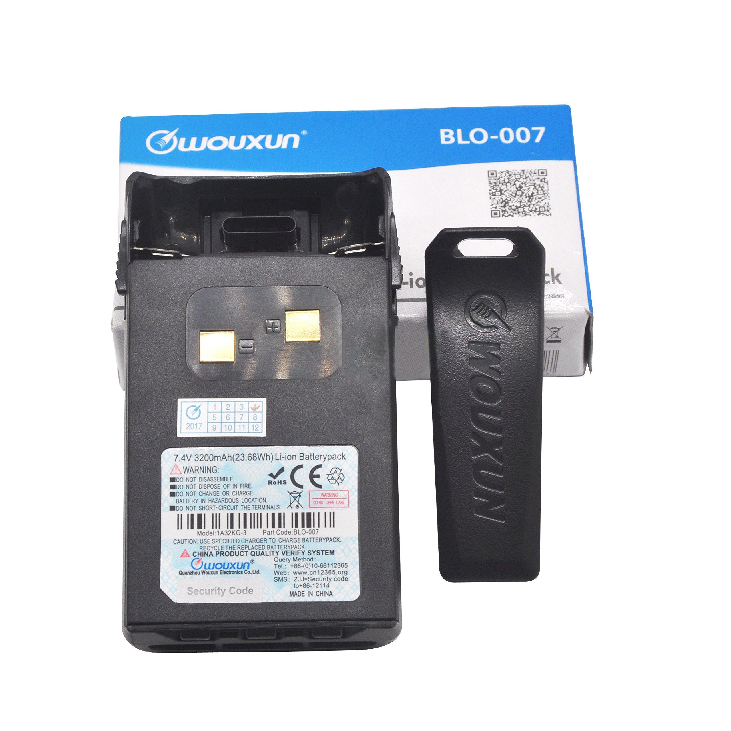 Walkie Talkie Battery Wouxun BLO-007 2600mAh Li-ion for Two Way Radio KG-UVD1P/UV6D/UVA1/833/639E/659E 669E/679E/689E/699E/703E