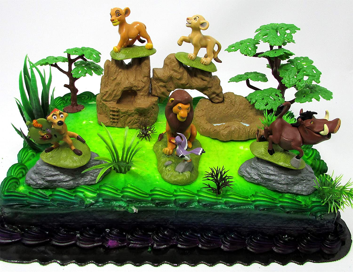 Amazon Lion King Birthday Cake Topper Set Featuring Figures And Decorative Themed Accessories Toys Games