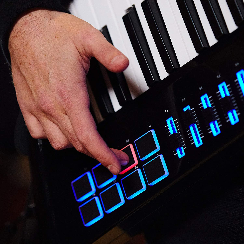 Alesis Vortex Wireless 2 - Keytar Inalámbrico con teclado controlador USB MIDI de Alto Rendimiento con sensor de inclinación y un paquete de software ...