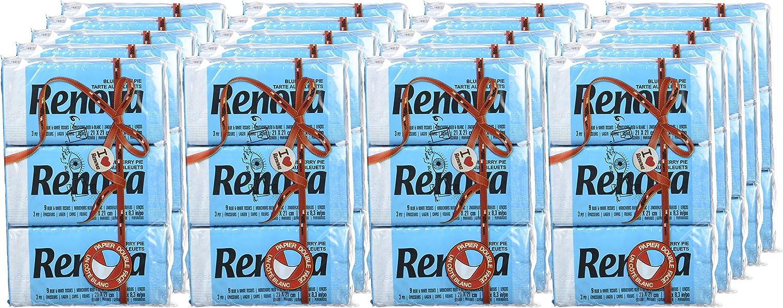6 paquetitos Renova Pa/ñuelos de bolsillo Red Label Azul aroma Tarta de Ar/ándanos