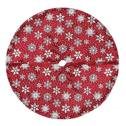 Mini Christmas Tree Skirt Pattern.Amazon Com Northlight 20 Red And White Glitter Snowflake
