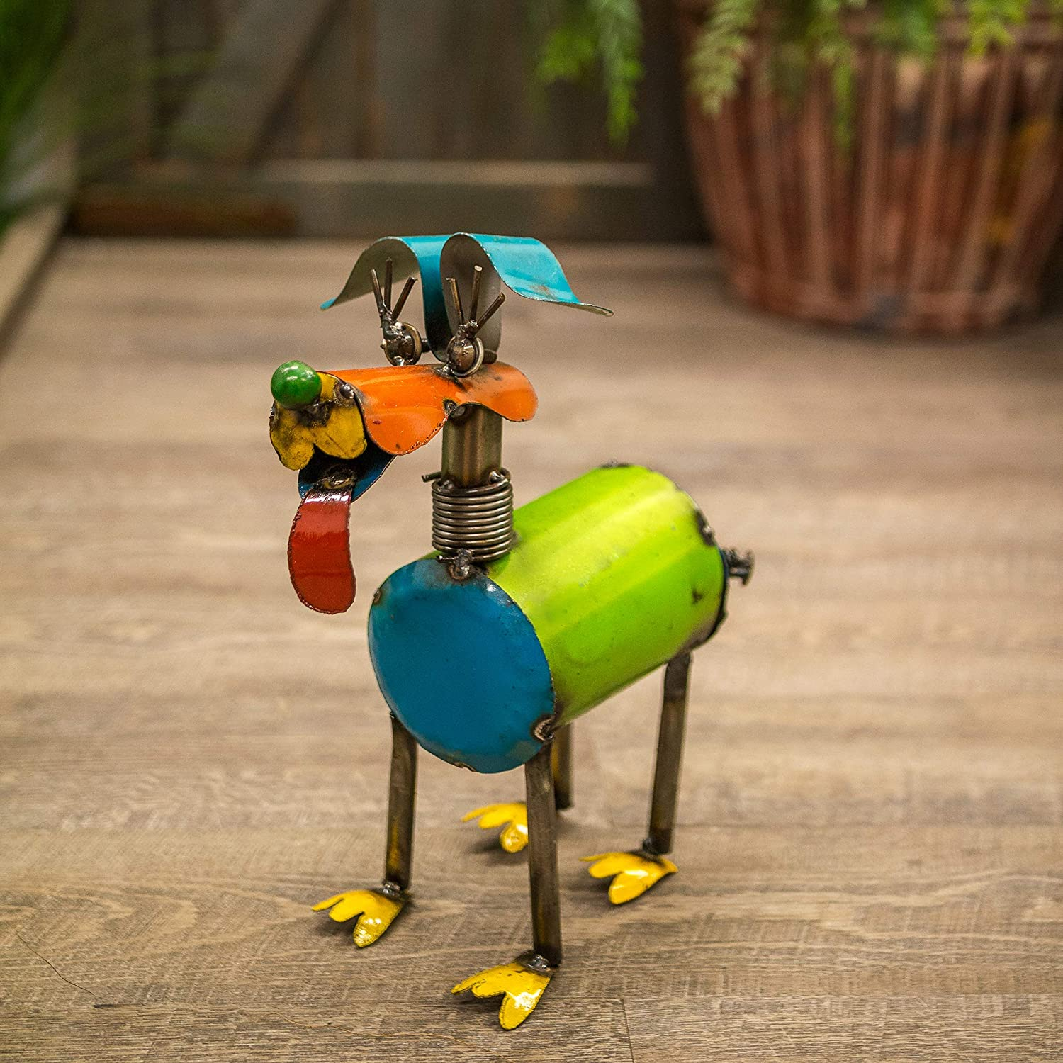 Rustic Arrow Small Fido Spring Neck Dog for Decor Multicolor 12 by 6 by 13-Inch