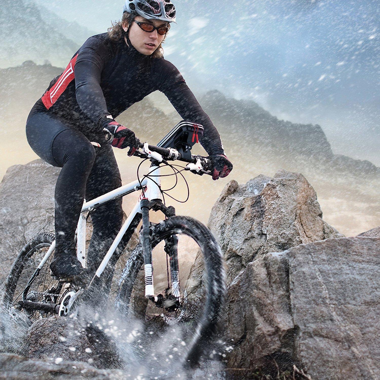 7//7 Plus 8//8 plus 6S Plus 6S Lovicool Bike Phone Holder Waterproof Bike Handlebar Bag Cycling Frame Bag Bicycle Top Tube Pouch Bike Phone Mount for iPhone X