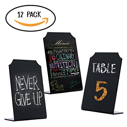 Amazoncom Acrylic Chalkboard Small Signs Memo Message Mini - Restaurant table cards