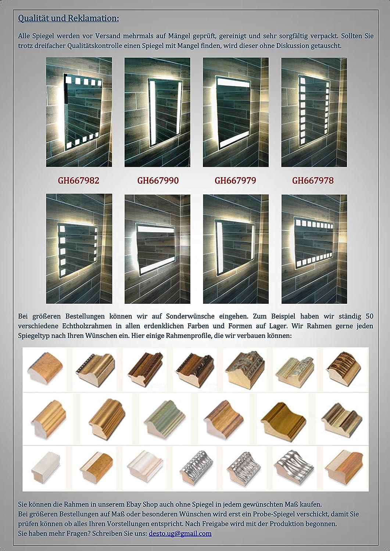 Von Adelberg Led Badspiegel 50 X 70 Cm Spiegel Mit Beleuchtung Bad Spiegel 667990 1 W57 Warm Weiß