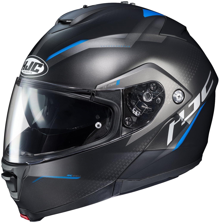 HJC IS-MAX 2 Modular Helmet X-LARGE BLACK//BLUE 0841-2532-07 Dova