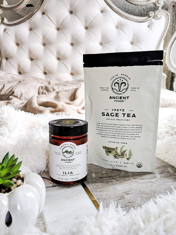 Ancient Foods - Fresh Sage Tea Organic | Greek Sage Tea | Organic Sage Leaf Tea - 40g -16 to 32 Servings