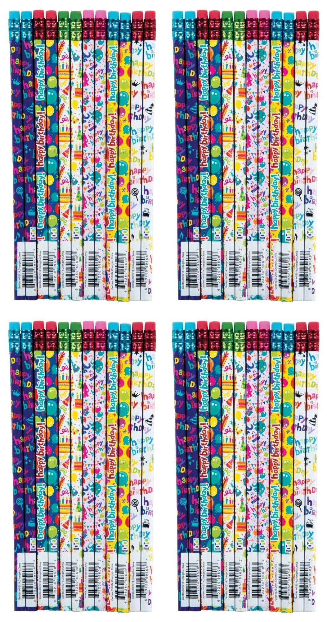 Raymond Geddes Its your Birthday Pencil, 72 Pack (69608) (Вundlе оf Fоur) by Raymond Geddes