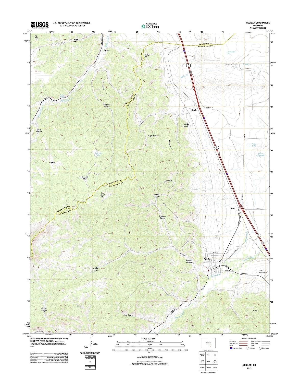 Aguilar Colorado Map.Amazon Com Topographic Map Poster Aguilar Co Tnm Geopdf 7 5x7 5
