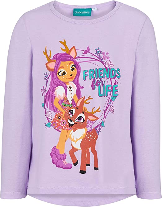 Enchantimals M/ädchen Kinder Pullover Shirtracer Life is More Fun with Friends Gruppe