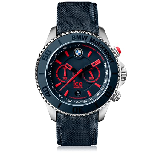 Ice-Watch - BMW Motorsport (steel) Blue Red - Men s wristwatch with leather e08b98ef19