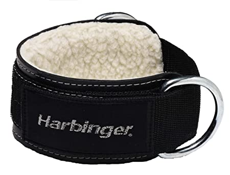 Harbinger 373700 Padded 3-Inch Ankle Cuff with Double Ring Attachment