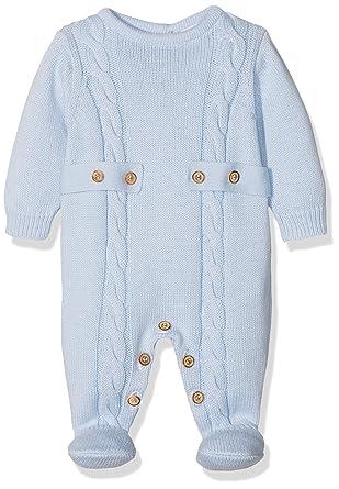 neck & neck 17I04206.20, Pelele para Bebés, Azul (Celeste),