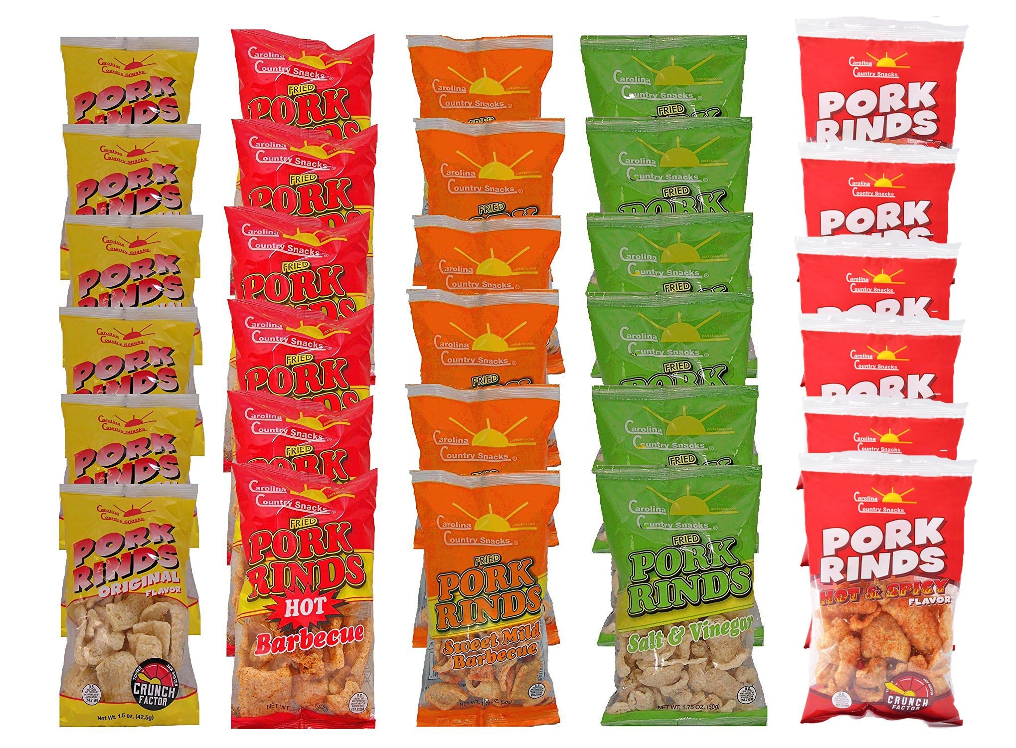 Fried Pork Rinds Mixed 30 bags (1.75oz)