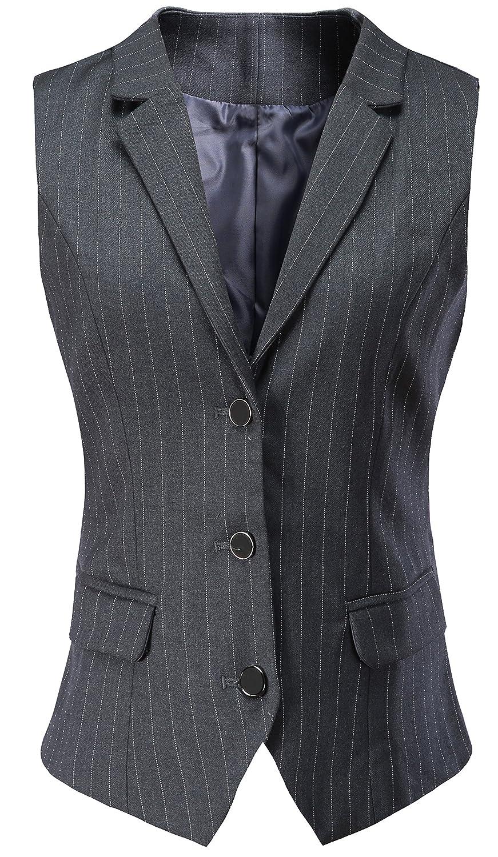 Vocni Women V-Neck Three Front Button Slim fit Waistvest Vest