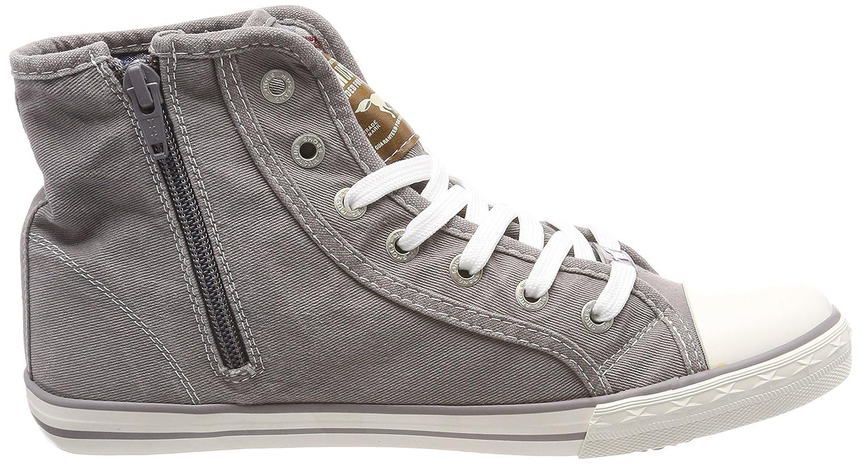 Mustang Damen 1099-502-932 Hohe Sneaker Sneaker Hohe Grau (Silbergrau 932) 771401