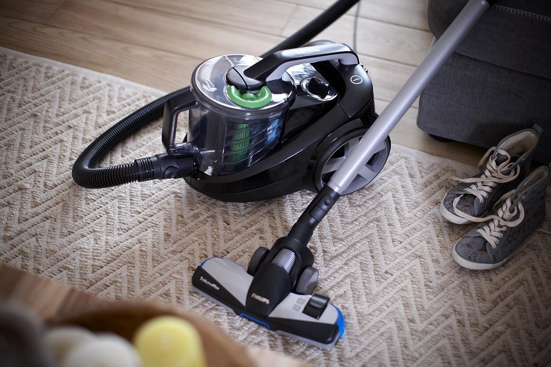 Philips PowerPro FC8769/91 - Aspiradora (650 W, cilíndrica, sin bolsa, 2 L, Negro, Verde, Caucho, filtro HEPA 12) color negro: Amazon.es: Hogar