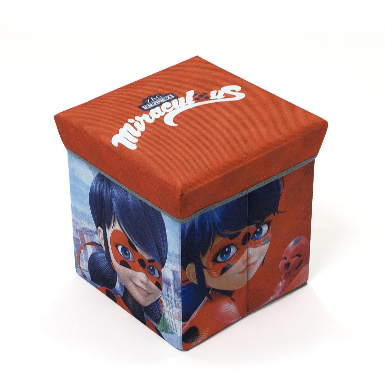 Arditex lb11721–Sgabello contenitore, 30x 30x 30cm, motivo: Lady Bug