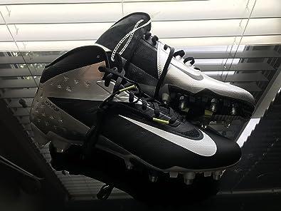f831d76f4 Nike New Mens Vapor Talon Elite Low Football Cleats Black Silver Size 14 M