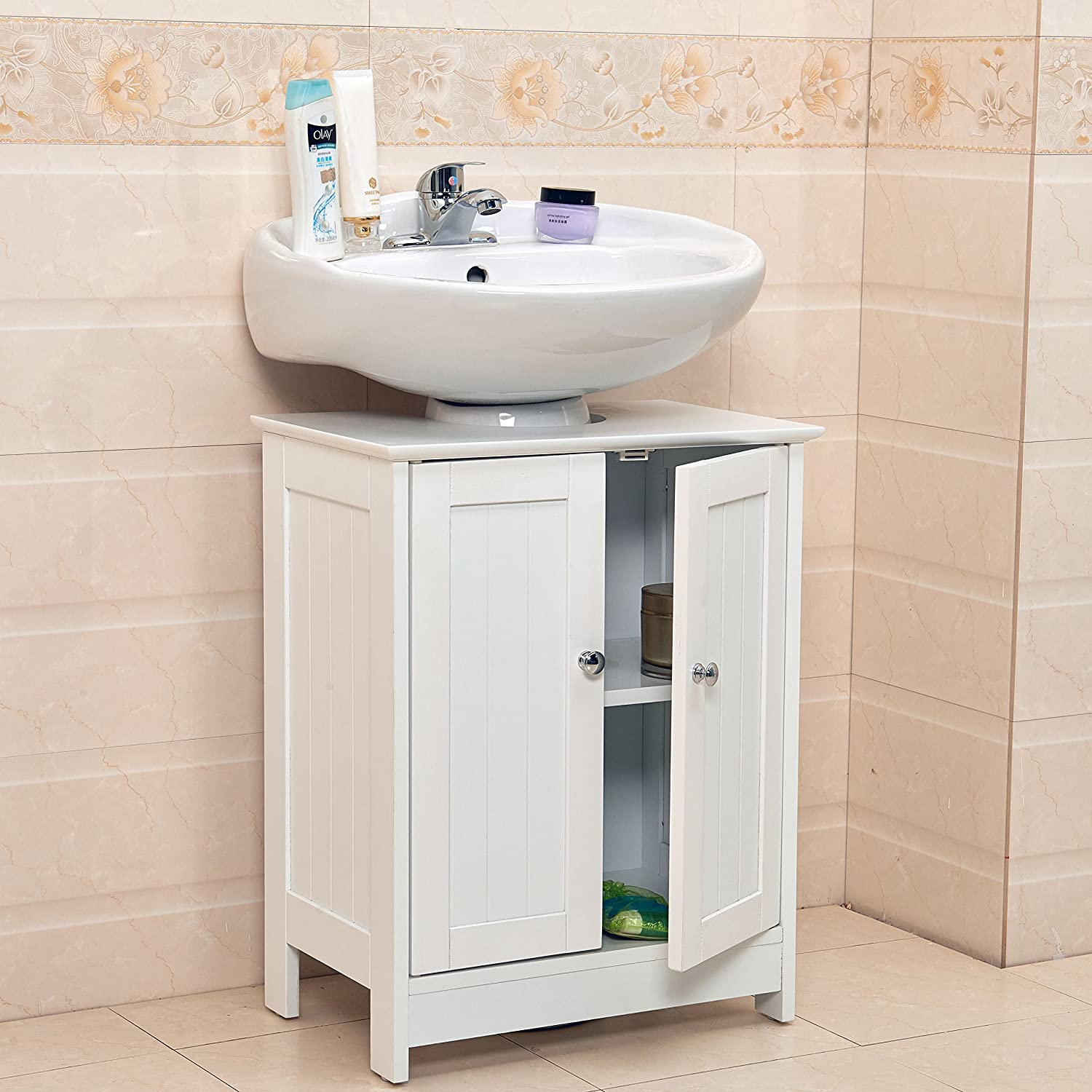 Peachy Vivo C Undersink Bathroom Cabinet Cupboard Vanity Unit Under Sink Basin Storage Wood Interior Design Ideas Ghosoteloinfo