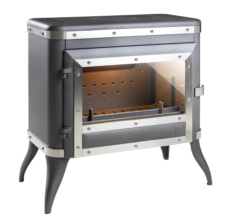 Hierro fundido estufa de leña INVICTA Tennessee antracita - 8 kW: Amazon.es: Hogar