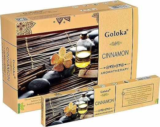 GENUINE SATYA CINNAMON 12 X 15 GMS BOXES =180 GMS OF INCENSE STICKSSHIPS FREE