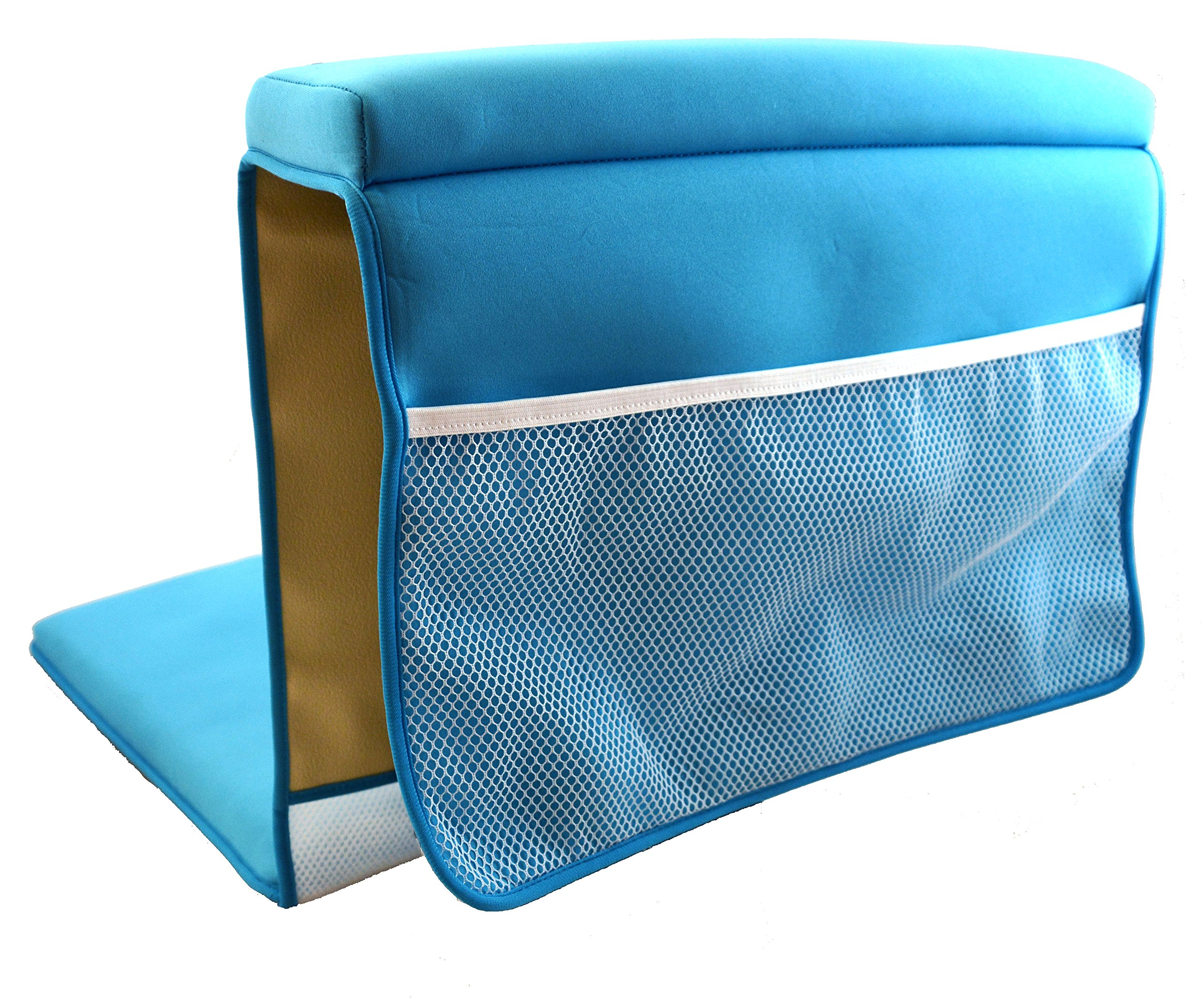 Life Upgrade Bath Kneeler in Blue - Padded Knee and Elbow Baby Bath Tub Cushion Mat with Pockets by Life Upgrade (Image #5)