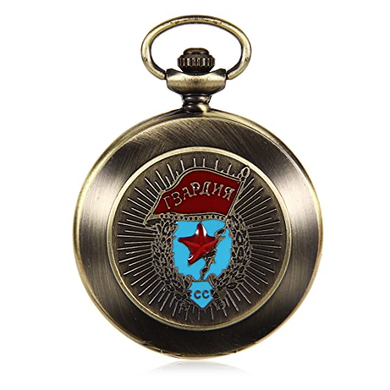 Bronze Tone Case Roman Number Dial Steampunk Hand Wind Mens Mechanical Pocket Watch reloj de bolsillo
